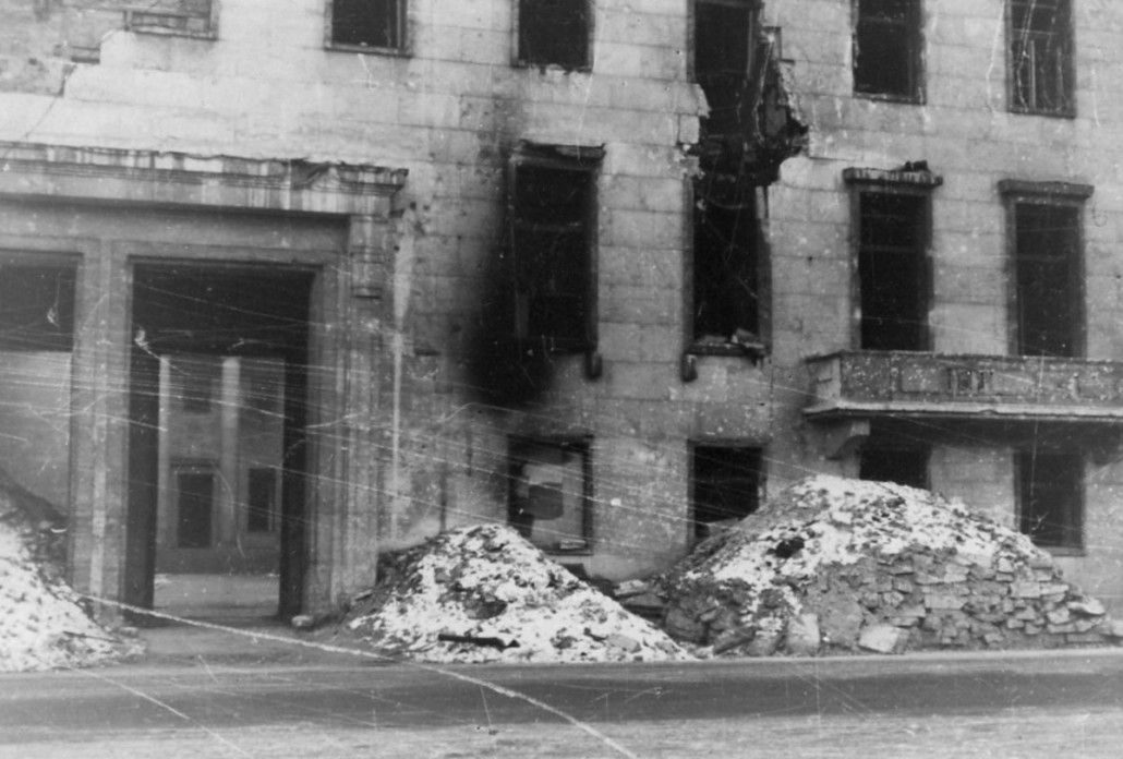 The ruins of Hitler's chancellery
